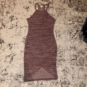 Urban outfitters silence+noise maroon wrap dress
